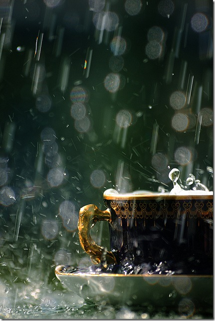 Чашка під дощем